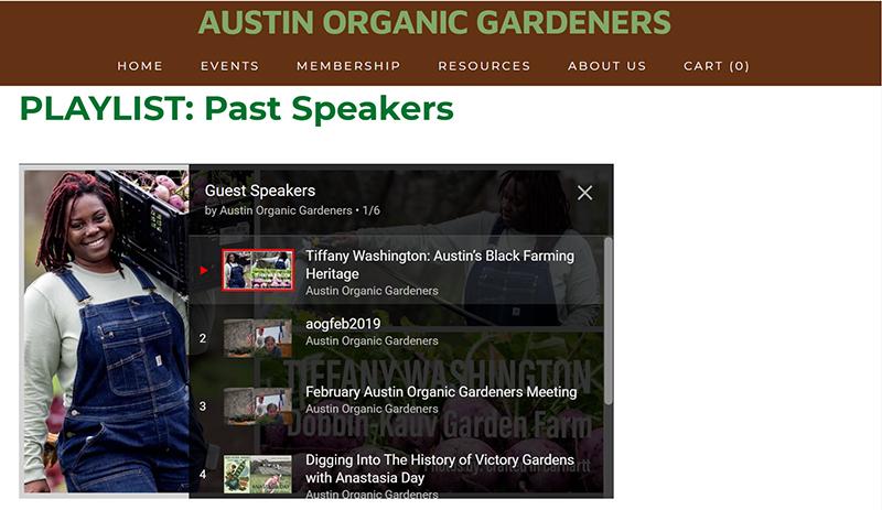 Austin Organic Gardeners Zoom meetings