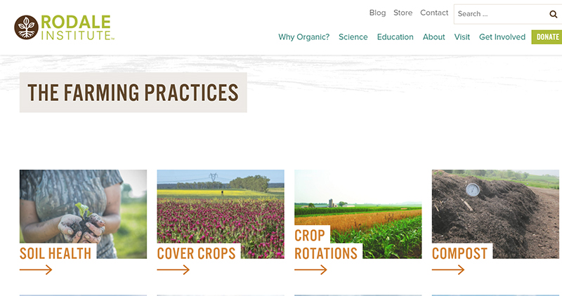 Rodale Institute organic practices