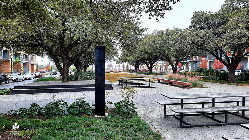 monolith Jacob Fontaine Plaza Central Texas Gardener