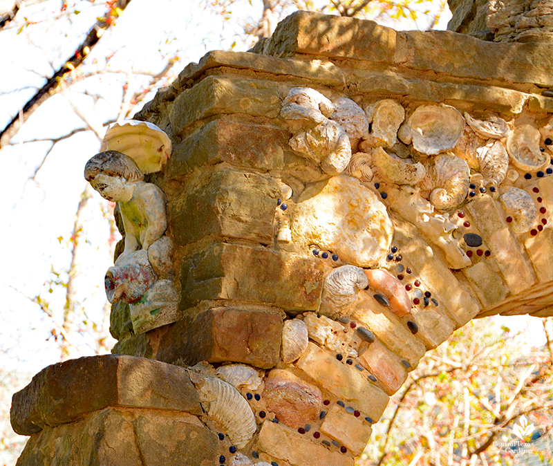 angel figurine folk art stone arch Jill Nokes design Central Texas Gardener