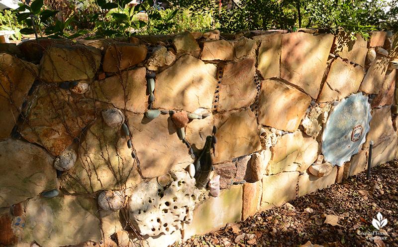folk art stone wall Jill Nokes design Central Texas Gardener