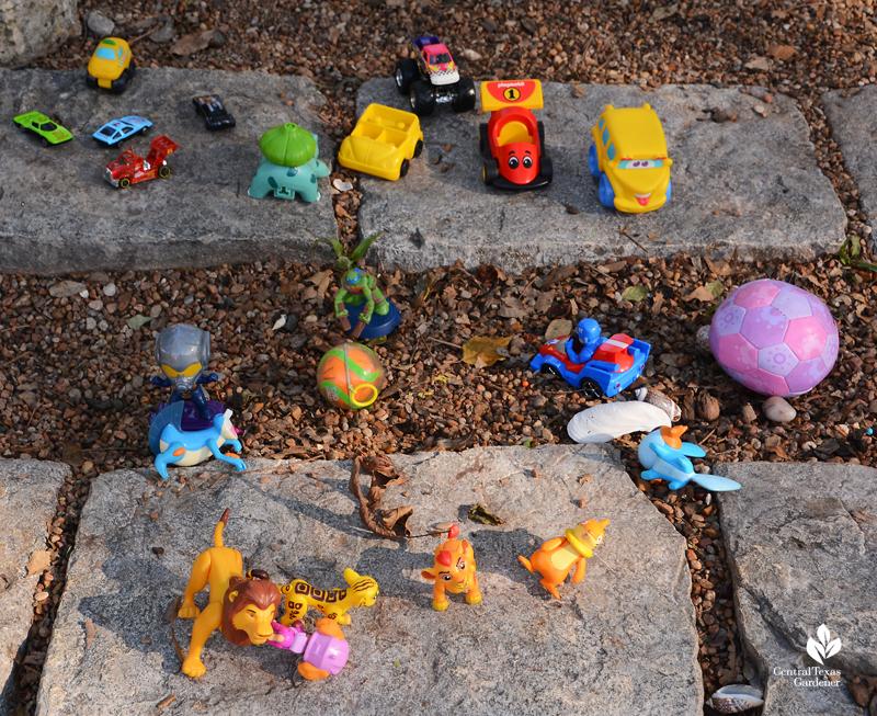 little toys to swap Jill Nokes garden Central Texas Gardener