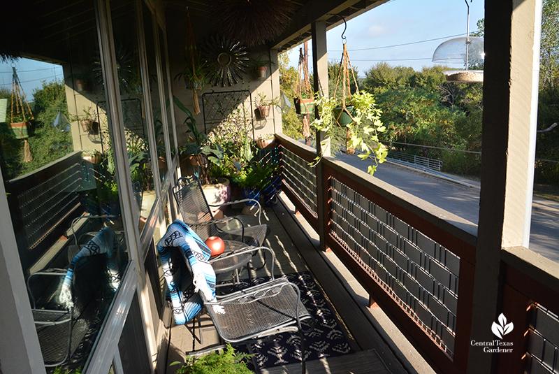balcony garden design bird watching Central Texas Gardener