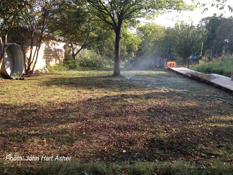 prep ground for seeding native grasses John Hart Asher photo Central Texas Gardener