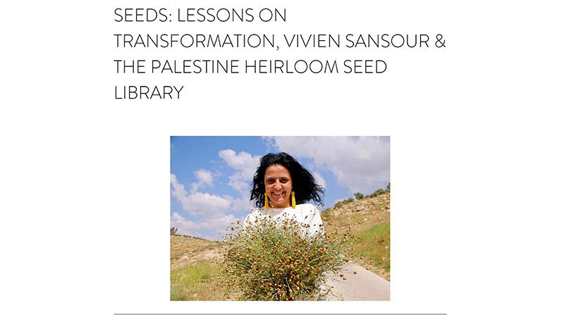 Cultivating Place Jennifer Jewell conversation with Vivien Sansour