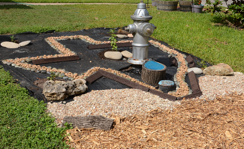 replace lawn garden art shape of Texas