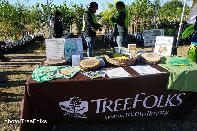 TreeFolks tree pickup table